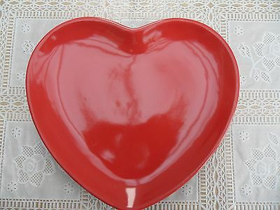 One Retro Flora Advertising Plates Scarlet Red Heart Shaped Valentines Day
