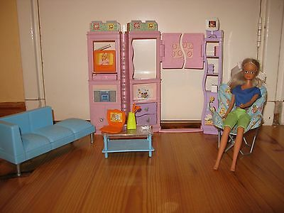 Barbie Doll with Sitting Room Furniture Set