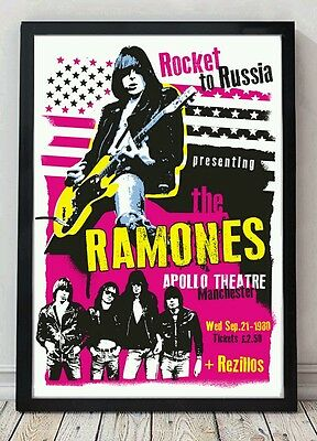 The Ramones original poster artwork. Celebrating famous venues and gigs.