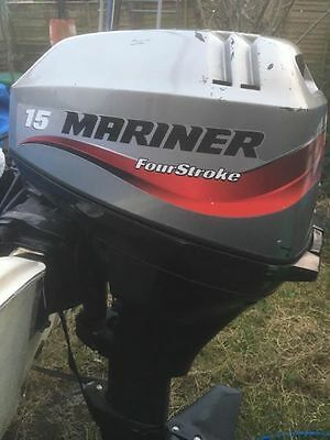 Mariner 15 Hp 4 Stoke Long Shaft Outboard