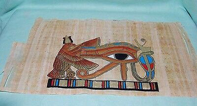 Egyptian Papyrus Geniune Hand Painted Egyptain Eye of Horus