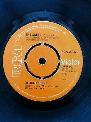 "The Sweet - Blockbuster / Need A Lot Of Lovin' 7"" Vinyl RCA Victor RCA 2305 1973"