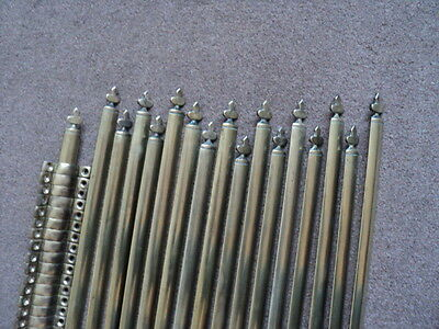 Large  Set 17 Brass  Stair Rods And 34 Brackets