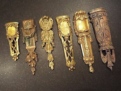 A Group Of Six Assorted Antique Ormolu Mounts