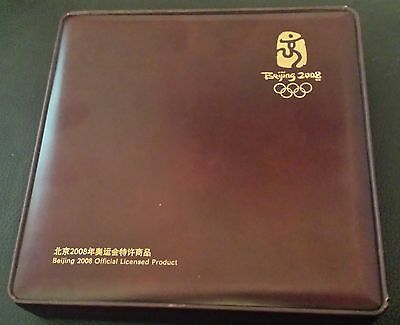 Rare China 2008 Beijing Olympics Gold And Silver Plated Official Proof Set