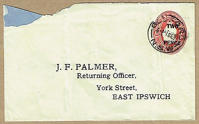 Australia 1930 Surcharge on 1½d KGV Oval STO Envelope earliest date of use