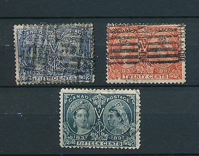 Canada stamp collection  queen victoria 1897 jubilee 15c 20c & 50c used
