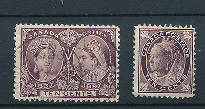 Canada stamp collection  queen victoria 1897 jubilee 10c mint and used