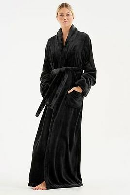 Long tall sally black  fluffy super soft dressing gown generous large 18/20