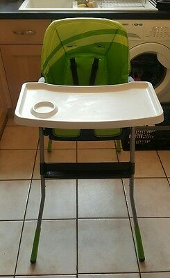Chicco Jazzy Green Highchair, Lightweight and Compact Folding for Easy Storage