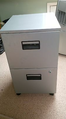 Small metal locking filing cabinet with keys