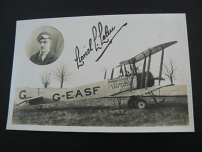 Berkshire Aviation Tours Lionel Louis LELEU RP Postcard East Hanney Oxfordshire