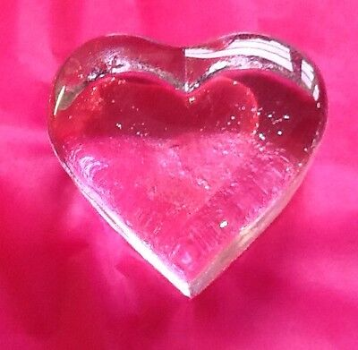 Dartington Crystal Heart Shaped Paperweight