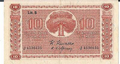 Finland Banknote 10 P85 1945 Gef 1/24 Signatory Variations