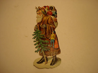 Large Victorian  Die-Cut Scrap, Father Christmas