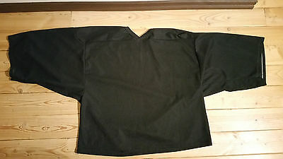 Black CCM Goaltending Ice Hockey Practice Jersey Goalie Cut Goal SR
