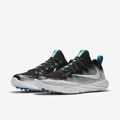 Nike Vapor Speed Lax Lacrosse Turf Shoes 856542-014- Black/Blue -$110 Retail NIB