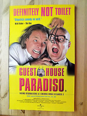 1990s  Poster 53 x 33 cm Guest House Paradiso Edmondson Mayall