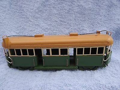 Melbourne Tram W2 Class model, hand made by George Kob,timber material. unboxed