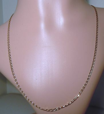 100% Genuine Vintage 9ct. Solid Rose Gold Mariner Necklace Chain. 51.5cm