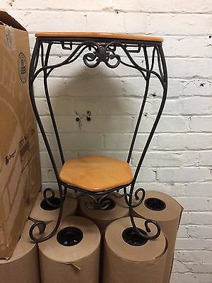 Longaberger Wrought Iron Generation Stand w Wooden Shelves Classic Stain