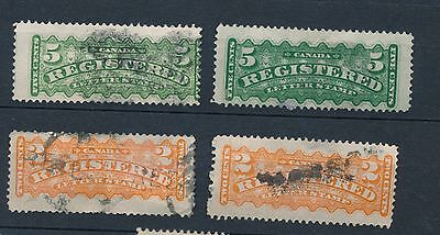 Canada 1875-1892 Registered mail collection