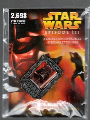 2005 Star Wars Episode Iii Lapel Pin (Sold In Quebec Prov. Only) Darth Vader