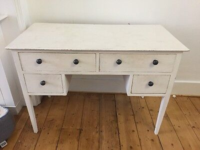White Painted Solid Wood Dressing Table Chest Of Drawers Desk Upcycle Project