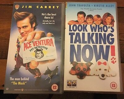 Ace Ventura Pet Detective And Look Who's Talking Now! VHS Movies