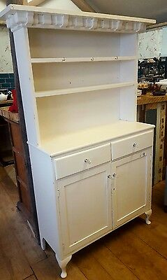 Cream Painted Antique Pine Dresser Country Farmhouse Kitchen Shabby Chic