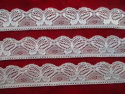 5 yards of beautiful white butterfly pattern embroidered stretch lace Trimmings
