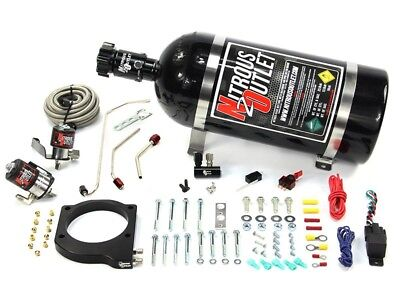Nitrous Outlet Wet Plate Nitrous Kit -MSD Atomic AirForce LS7 Intake - 50-200HP