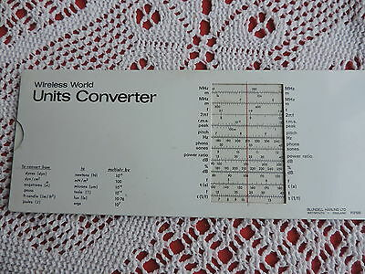 Wirless World Units Converter