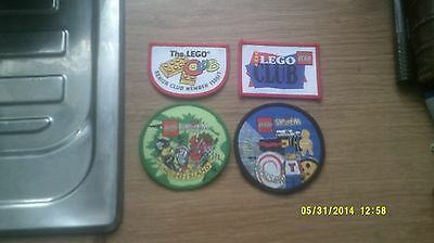 4 Lego Club Patches