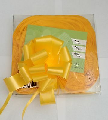 10 Yellow Quick Bow Pull Ribbons 30mm Party Decorations Wedding Christening