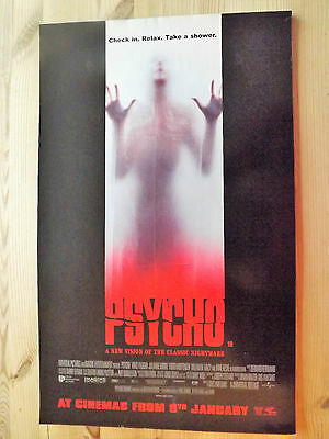 1998  Poster 53 x 33 cm PSYCHO Check in, relax, take a shower.l