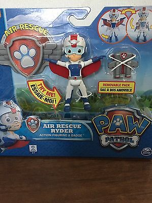 Nickelodeon - Paw Patrol Air Rescue Ryder Figure / Character & Badge - BRAND NEW