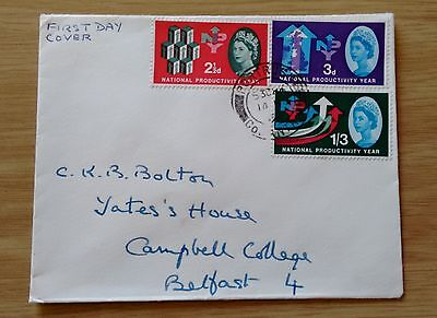 GB QEII 1962 National Productivity Year (ord.) FDC - Portrush Co. Antrim CDS