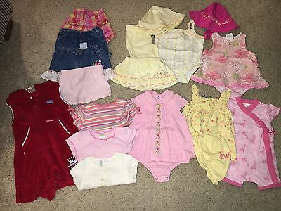 Huge lot of baby girls spring/summer clothes, size 0-3, 6-9 months 18 pieces