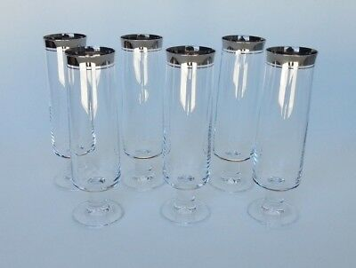 Set of 6 Vintage Thomas Rumba Champagne Flute Glasses Made in Germany