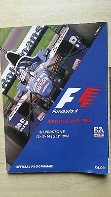F1 British Gp 1996 Official Programme