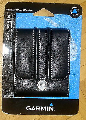"NEW Genuine Garmin Nuvi 3.5"" and 4.3"" Leather Carrying Case"