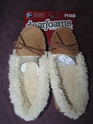 Brand New Ladies Slippers, Size 5-6, Dearfoams, Indoor/outdoor Soles, Tag $32