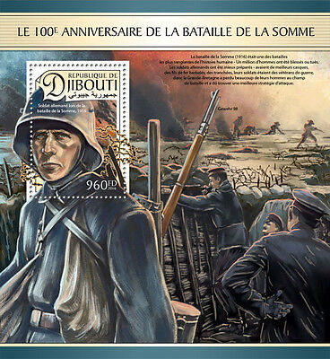 DJIBOUTI 2016 ** WWI Battle of Somme Schlacht bei Somme S/S #618b