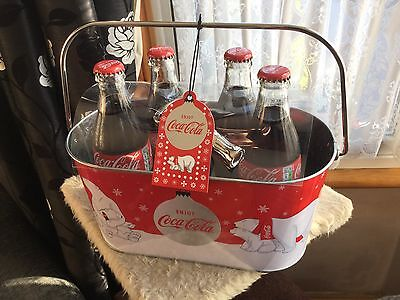 Coca Cola Ice Bucket,4 X Coke Bottles And Opener..new And Unused...rare Item.
