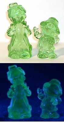 Boyd Glass SET Chuckles Clown Freddy Clown Green Uranium Vaseline FUND