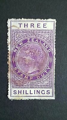 1882 - New Zealand Three Shillings postage stamp