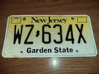 New Jersey License Plate - Clean!