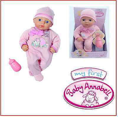 Baby Annabell My First Doll Pink with Bottle - New
