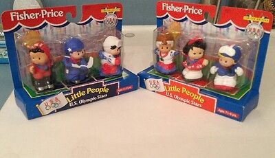 1997 Fisher Price Us Olympic Star Little People Toy Figures Boys & Girls